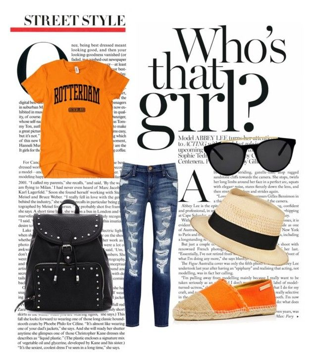 """Orange"" by doubleblonded on Polyvore featuring Current/Elliott, Heidi Klein, Smoke & Mirrors and Eugenia Kim"