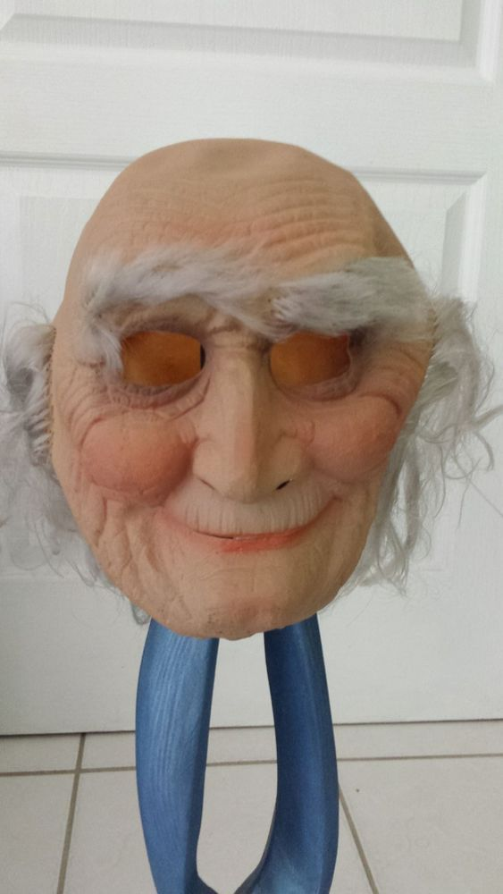 Vintage Halloween Cesar Inc 1971 Creepy Old Man Slaughter High Mask #Cesar #Halloween