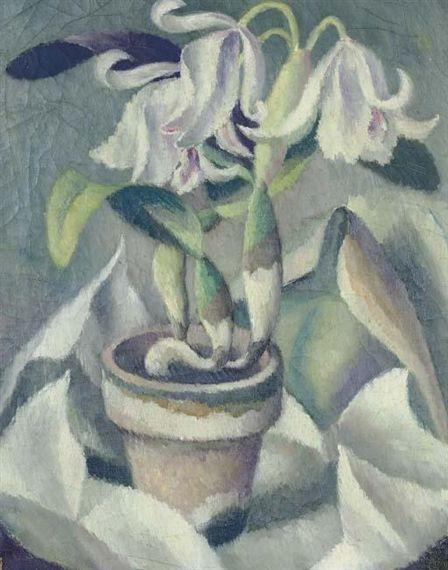 Orchids don't need to be garish. Here's a subtle study in pastel entitle White Orchids, by Edward Middleton Manigault (1887–1922), oil on canvas, circa 1921-1922