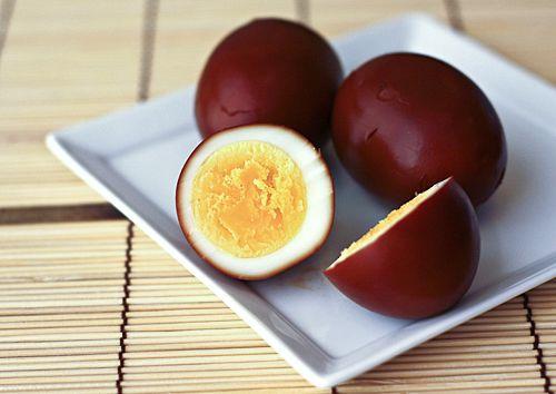 Soy Sauce Eggs (Shoyu Tamago) | Easy Recipes at RasaMalaysia.com via @thekitchnSauces Eggs, Hardboiled Eggs, Eggs Shoyu, Japanese Soy, Shoyu Tamago, Soy Sauces, Delight Things, September 2012, Hard Boiled Eggs