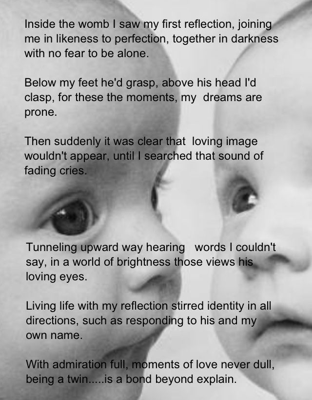 Twins Sister Poems Twin's Bond Identical Twin