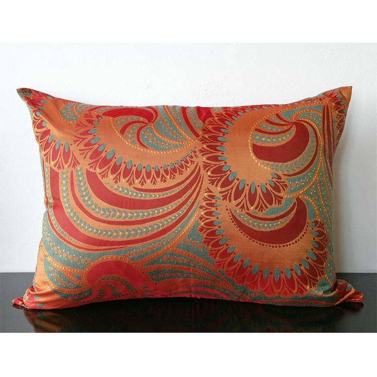 red amber turquoise pillow ????????? ???????????? /Decorative pillow Pinterest Shops, Art ...