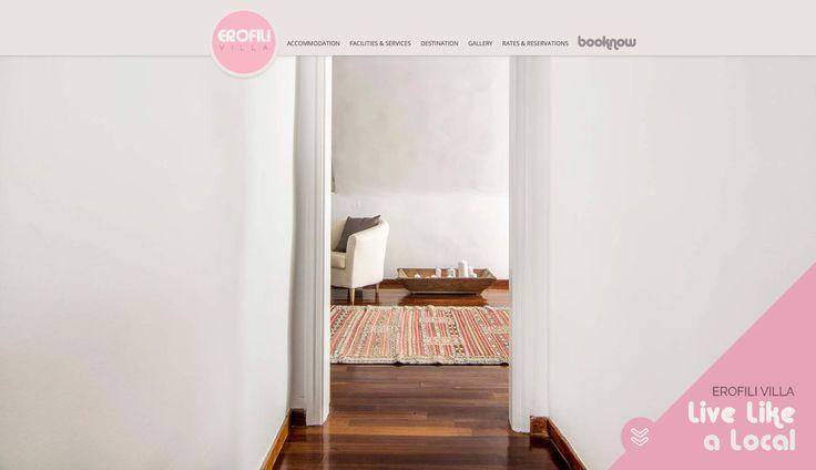 F-Design website for Erofili  in Santorini! www.erofilisantorini.com/ #santorini #website #webdesign #design #hotel
