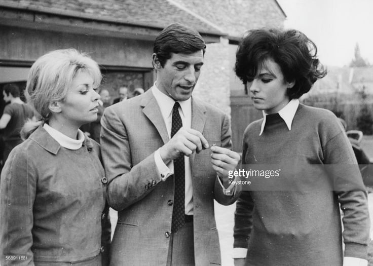 Actors (L-R) Patricia Viterbo, Jean Claude Bercq and Marilu Tolo on the set of the film 'Judoka Agent Secret', Paris, October 11th 1966. Patricia Viterbo would later die in a tragic accident during the making of the film.