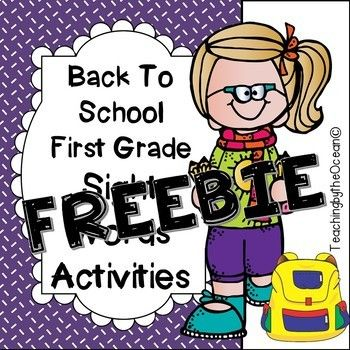 Let your students grow in their knowledge of sight words by getting great practice with this sample of my Back to School First Grade Sight Words pack. This sight words file contains 5 words related to Dolch First Grade list of Sight Words. Students use a variety of skills with each practice page.