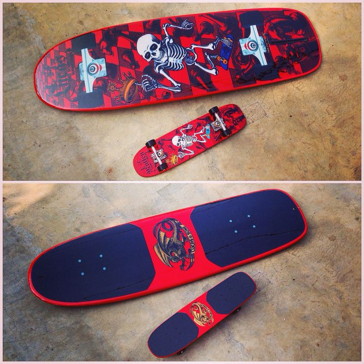 From Rodney Mullen Freestyle skateboard to single fin mini mini mini malibu surfboard