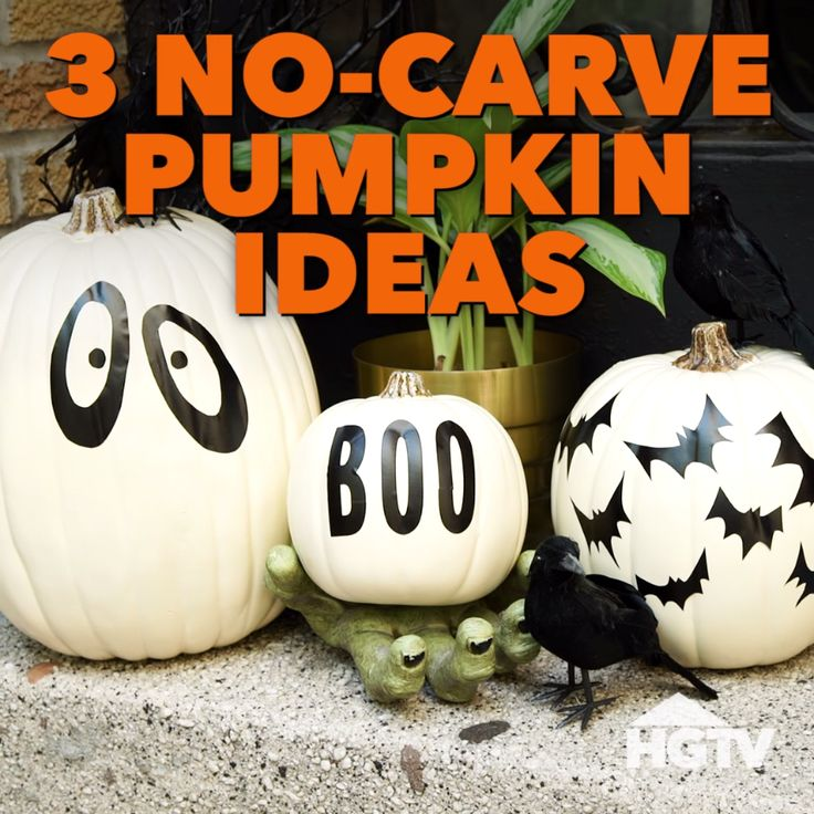 no carve pumpkin decorating ideas easy halloweenhalloween - Easy Halloween Decoration Ideas