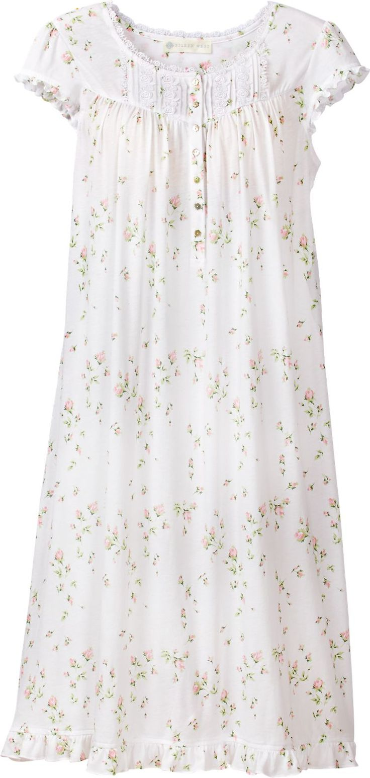 Eileen West Rosebud Nightgown: The silkiest knit we could find caresses your skin like a soft spring breeze.