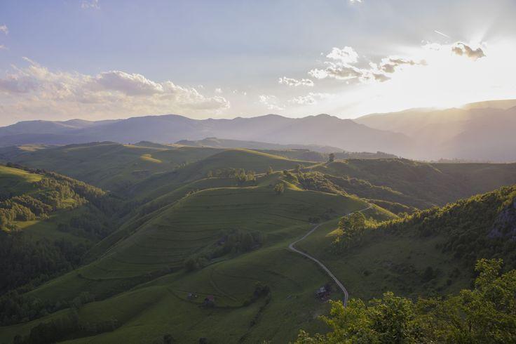 Stunning landscape in Transylvania Mountains, Romania