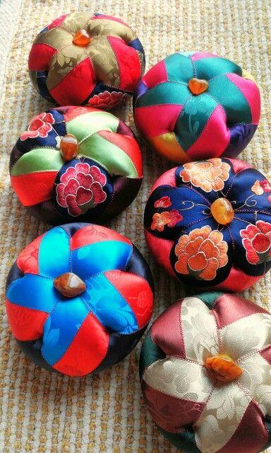 원형바늘방석 Korean Traditional Crafts pincushion