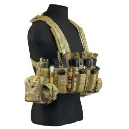 "TAG's® Intrepid Chest Rig is a full combat load out chest rig. This chest rig gives you the ability to carry up to 8; 5.56mm magazines and up to 4 pistol magazines. Single and double stacked 9mm, .40cal, or .45 ACP magazines all fit into our multi-caliber pistol pouches...<a href=""#tab-label-product.info.description"" title=""Learn More"">Learn More...</a>"