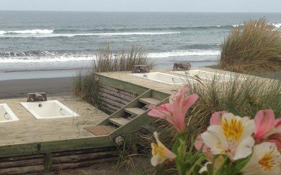 Surfhostel Pichilemu, direct aan het strand, heerlijk ontbijt en gratis fietsen voor een sunset sessie:-))