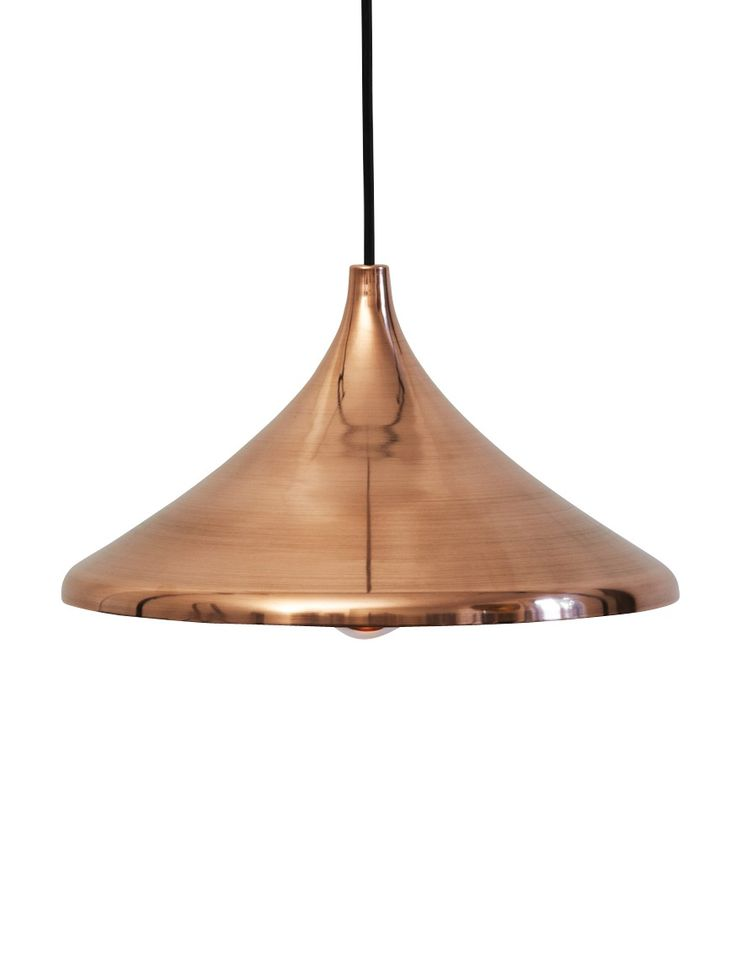 The shades of these lights are inspired by old ottoman helmets. They come in polished and untreated brass, copper or aluminum.