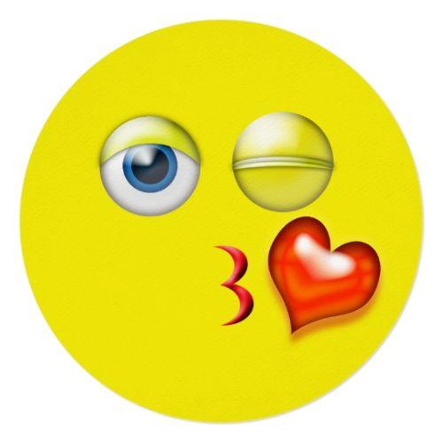 Kiss Emoji Thank You Card