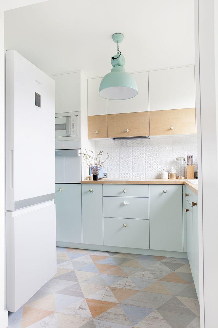 Mieszkanie w kolorach pastelowych - Kuchnia - Styl Nowoczesny - Aranżacja i wystrój wnętrz - Dom z pomysłem