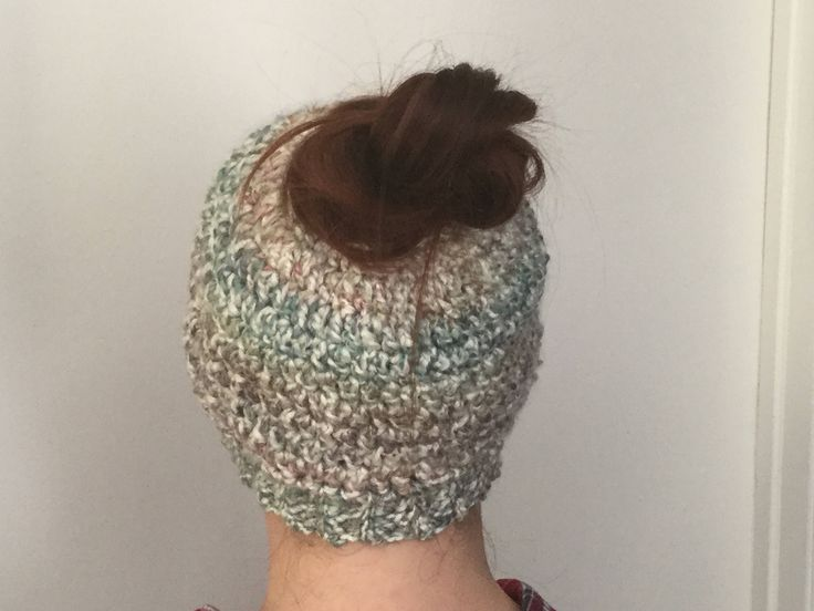 Excited to share the latest addition to my #etsy shop: Messy Bun Hat