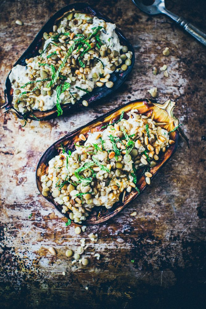 Baked Eggplant with Sesame Yoghurt Sauce Recipe
