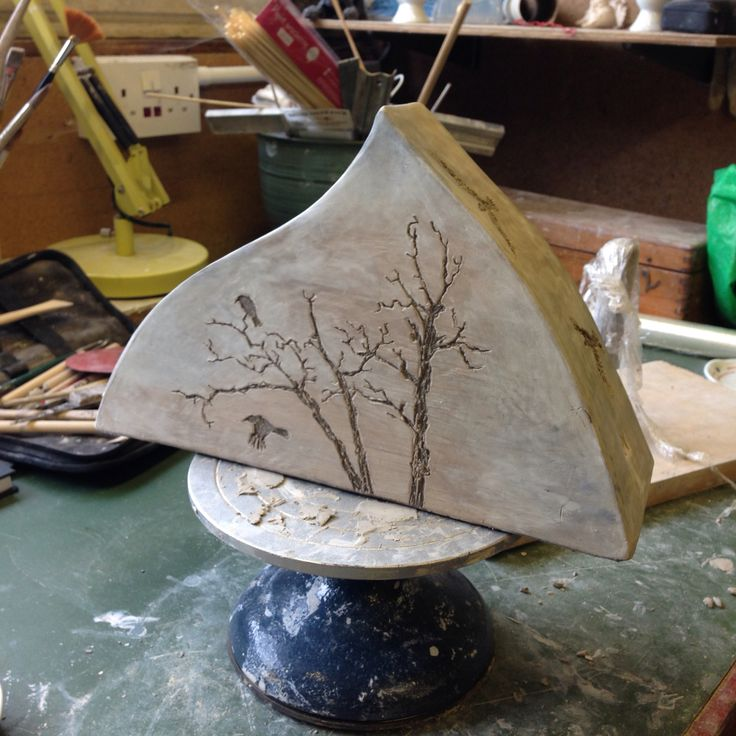 Tree and crows (work in progress) ceramic