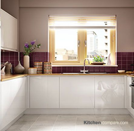 Wickes - Madison White Gloss Handleless. The ultimate minimalist kitchen featuring a sleek handleless design. Click here for more information - http://bit.ly/1Q55O1C