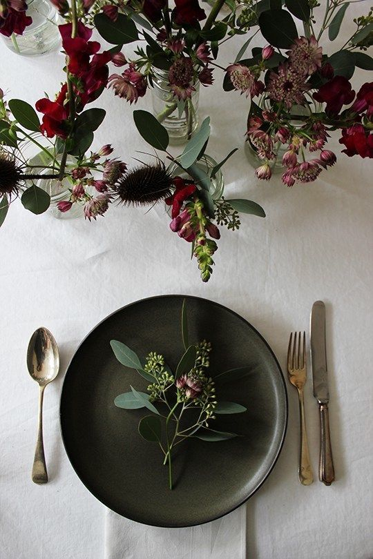 Simple yet pretty Christmas / party table inspiration