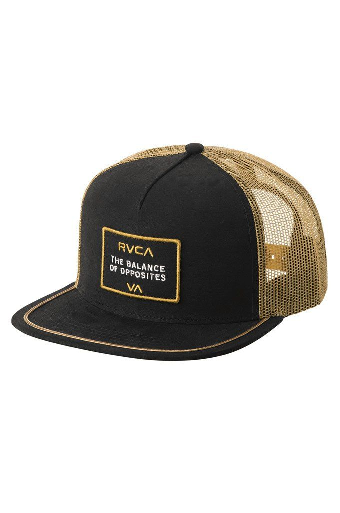 9a55b3417a1 ... best the rvca billboard trucker hat is a mid fit 5 panel meshback trucker  hat with