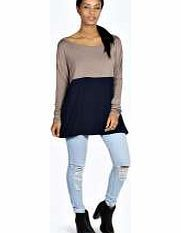 boohoo Edith Contrast Panel Batwing Top - mocha azz19356 Pick this panelled top , and take your staples in a new direction with this slouchy, dropped shoulder design. Wear it with ripped skinny jeans , new season slip ons and a beanie . http://www.comparestoreprices.co.uk/womens-clothes/boohoo-edith-contrast-panel-batwing-top--mocha-azz19356.asp