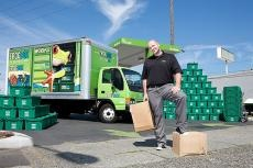 """1.5 Million Cardboard Boxes per month!    """"Cardboard boxes can be hard to find and time-consuming to transport and assemble,"""" said Cowan, Twin CitiesFROGBOX partner.  """"When you are done moving and unpacking, you still have to figure out how to get rid of the boxes at a time when we want to find ways to throw away less.  FROGBOX is one way to make moving less stressful."""" Read More:  http://frogbox.com/blog/2011/08/green-is-the-new-brown-in-the-moving-industry-with-frogbox-in-town"""