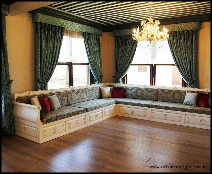 OSMANLI TARZI MOBİLYA MODELLERİ | Osmanlı Tarzı Mobilya | Ahşap Oymalı Sedir | Osmanlı Stili Kanepe