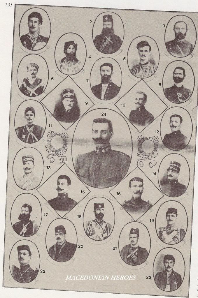 Macedonian Fighters - Faces of the Makedonomaxoi - in the struggle to free Macedonia from Turkish occupation and reunite it with the rest of Greece