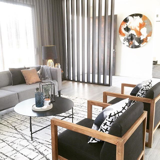 Ethnicraft Armchairs And GlobeWest Felix Square Sofa Image: @frostedbyamy # Globewest #furniture #
