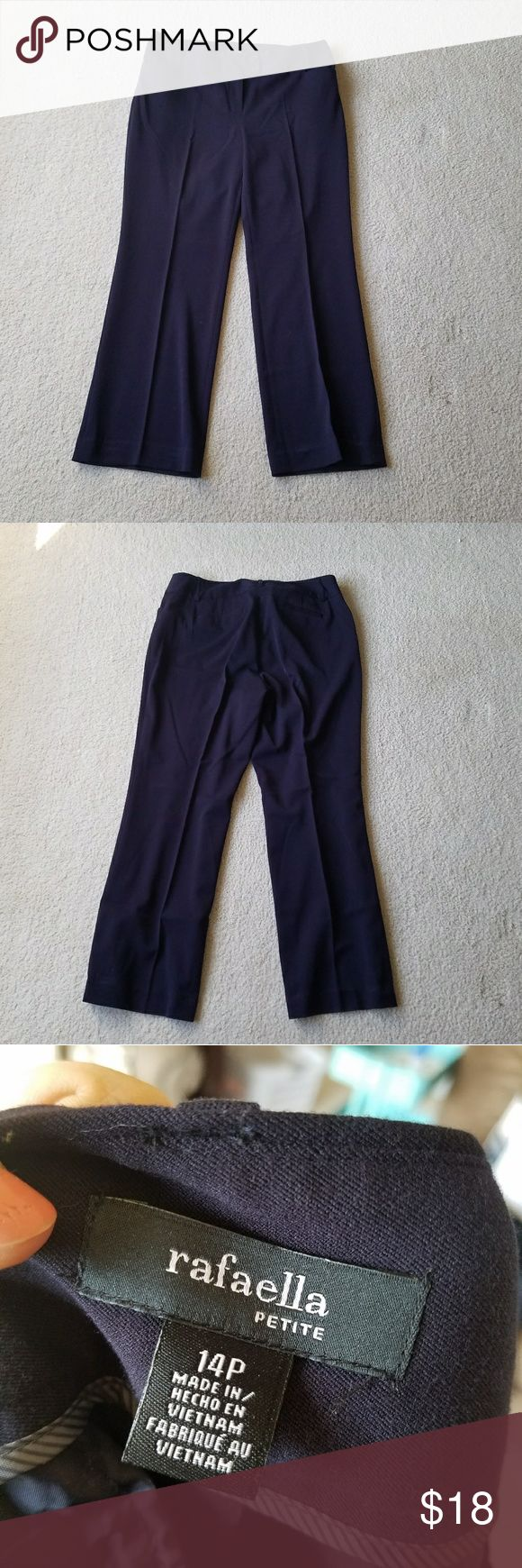 🚨 CLOSING MONDAY 🚨Rafaella Navy Petite Pants Gently used.  Stretch.   #110604 Rafaella Pants Trousers