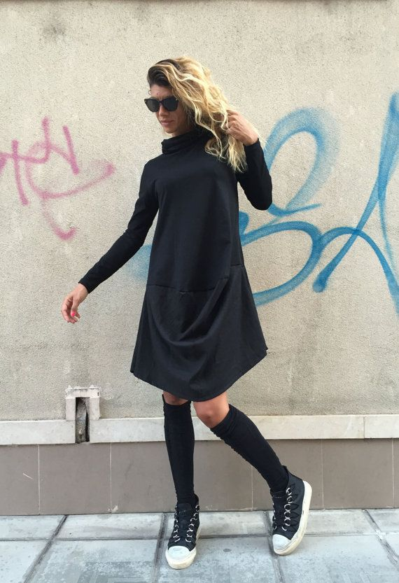 New COLLECTION Oversize Black Loose Casual Dress / by SSDfashion