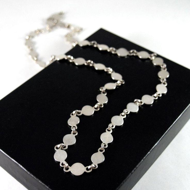 David Andersen Circular Link Necklace - Minimalist