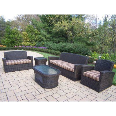 Oakland Living Savannah Wicker Conversation Set By Oakland Living Corp.  $4999.80. Comfortably Seating Six