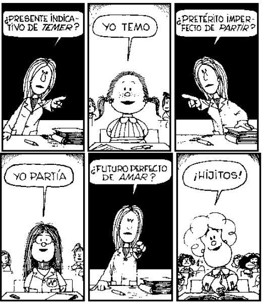 Futuro Perfecto de Amar? #MafaldaQuotes #Susanita