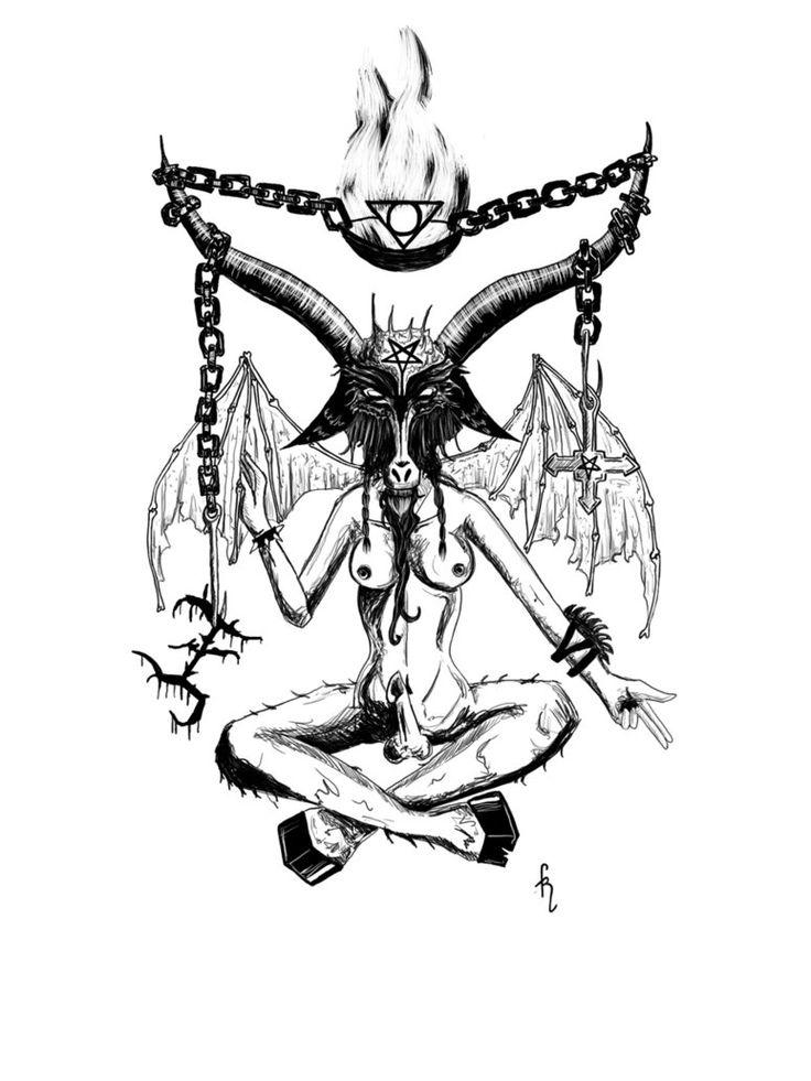 211 best baphomet images on pinterest baphomet demons for Baphomet tattoo meaning