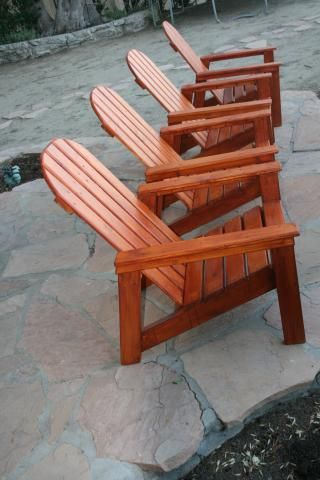 Free Plans Adirondack Chair Outdoor Furniture Tutorials