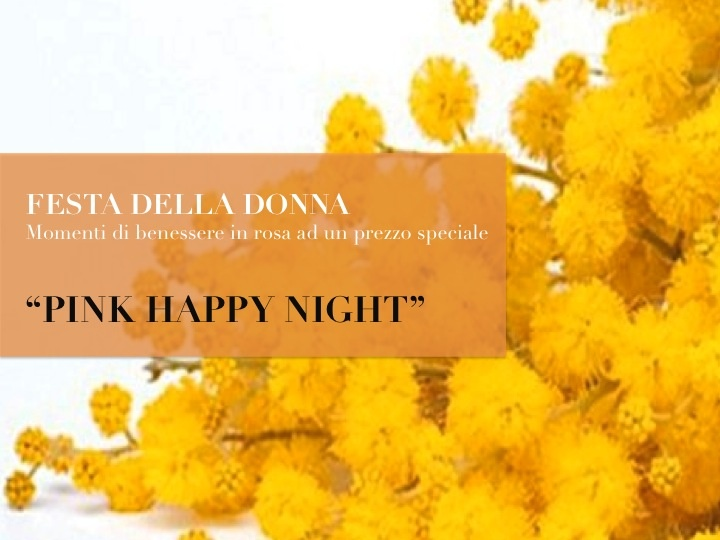 Pink Happy Night:   Percorso Benessere dalle ore 20.30  Buffet a bordo piscina con le specialità di Cascina Caremma.    45€ a persona, bevande escluse