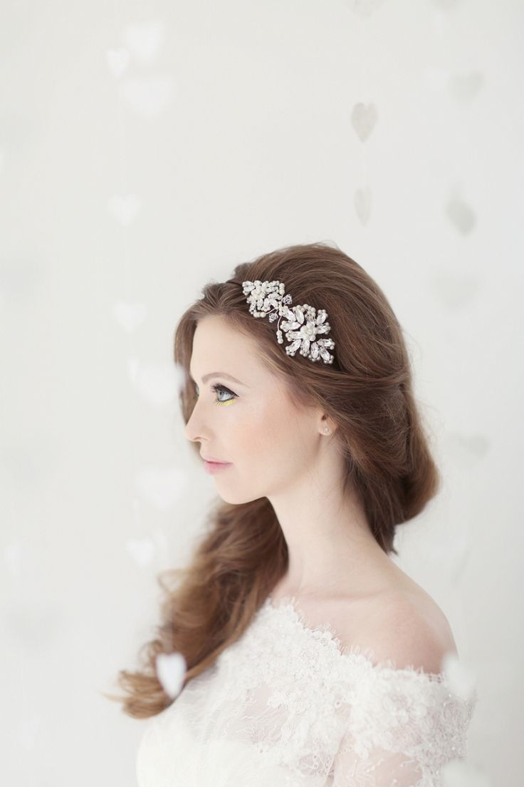 Feather coal hair accessories emily kent wedding hair bridal musings - Image By Eva Sanders Photography Pastel Valentines Day Inspired Bridal Shoot Featuring Hair Accessories From
