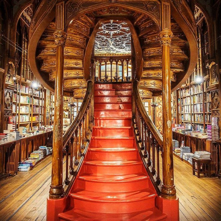 Stairway to Literature Heaven.  One of the worlds most beautiful bookstores is in Porto   Amazing @livraria.lello! http://ift.tt/2ys9KMj