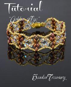 Golden Age superduo bead pattern beading by BeadedTreasury