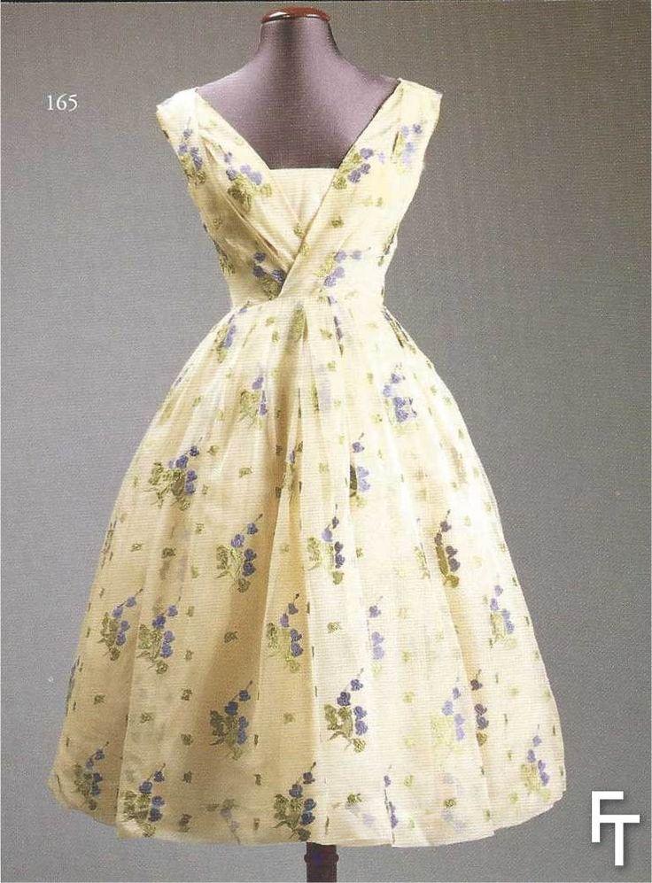 Christian dior haute couture day dress circa 1957 for Dior haute couture dress price