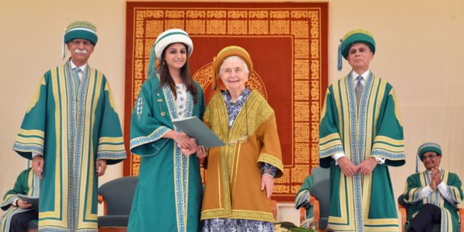 """November 28, 2015: """"I know how desperate Pakistani youth is for role models and I wish they had more,"""" said Dr Ruth Pfau, founder of the Mary Adelaide Leprosy Centre, while addressing the 412 gradu..."""