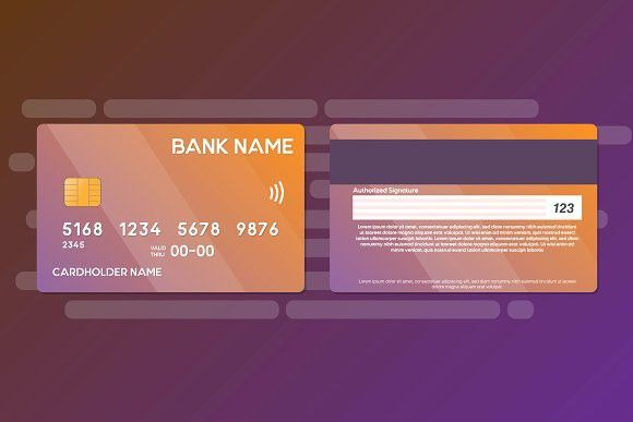 Credit Card Template Vector 2 Side With Images Credit Card