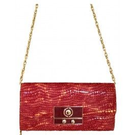Small Red Leather Clutch Purse Bag | Free Delivery | Fabhere.com.au