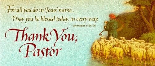 Tell A Pastor Thank You This October  The Gideons