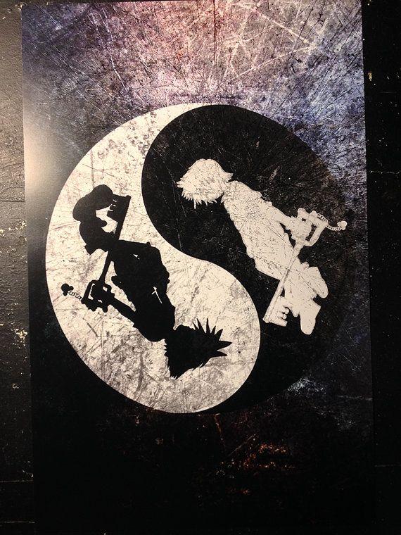 Kingdom Hearts Parody Poster Sora Roxas Yin Yang by TheArtisticade