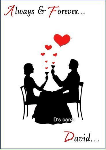 PERSONALISED CUTE VALENTINES DAY CARD FOR MALE OR FEMALE
