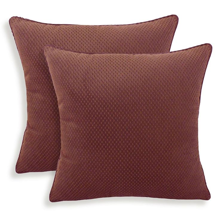 Convex 2-piece Textured Woven Throw Pillow Set, Other Clrs