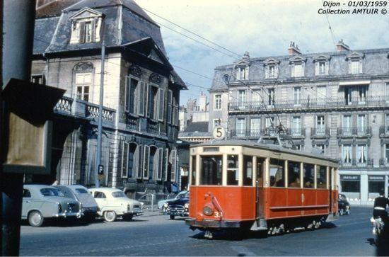 Dijon - Le tramway  de mon enfance....Die Strassenbahn meiner Kindheit...